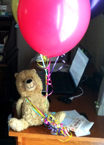 Ted and balloons